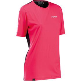 Northwave Xtrail Short Sleeve Jersey Women, rosa/negro